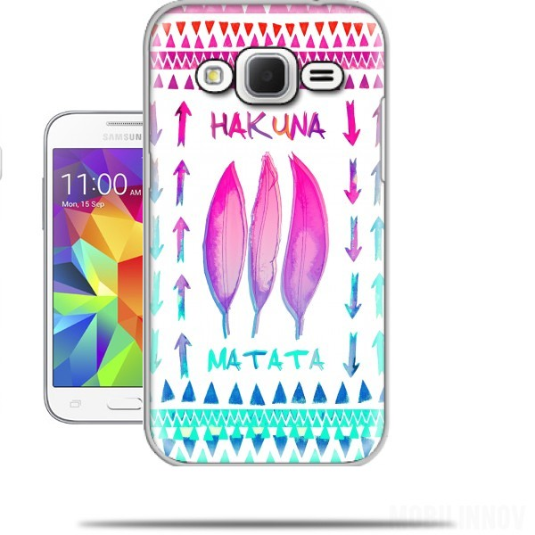 coque samsung galaxy core prime hakuna matata. Black Bedroom Furniture Sets. Home Design Ideas