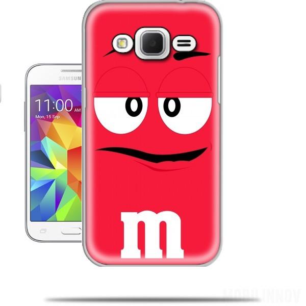 Super Coque Samsung Galaxy Core Prime M&M's Rouge originale et pas cher MZ55