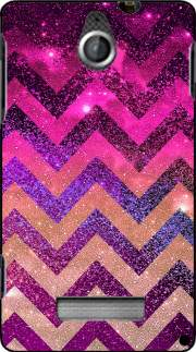 silicone PARTY CHEVRON GALAXY  pour Sony Xperia E