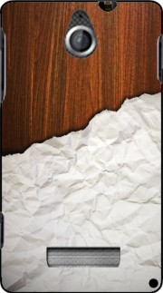 silicone Wooden Crumbled Paper pour Sony Xperia E