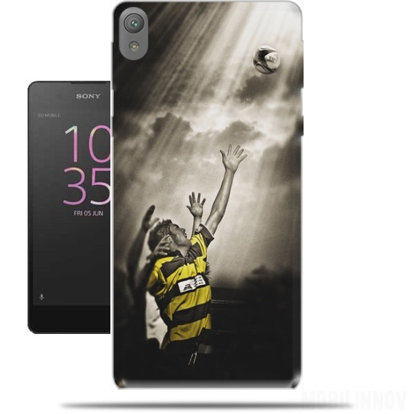 coque sony xperia e5 rugby challenge originale et pas cher. Black Bedroom Furniture Sets. Home Design Ideas