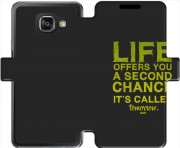 etui folio Samsung Galaxy A3 (2016) Second Chance