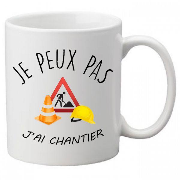mug Je peux pas j'ai chantier