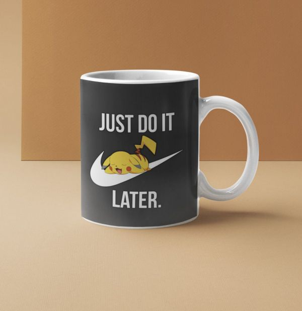 mug Nike Parody Just Do it Later X Pikachu