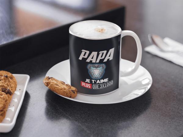 mug Papa je t'aime plus que 3x1000
