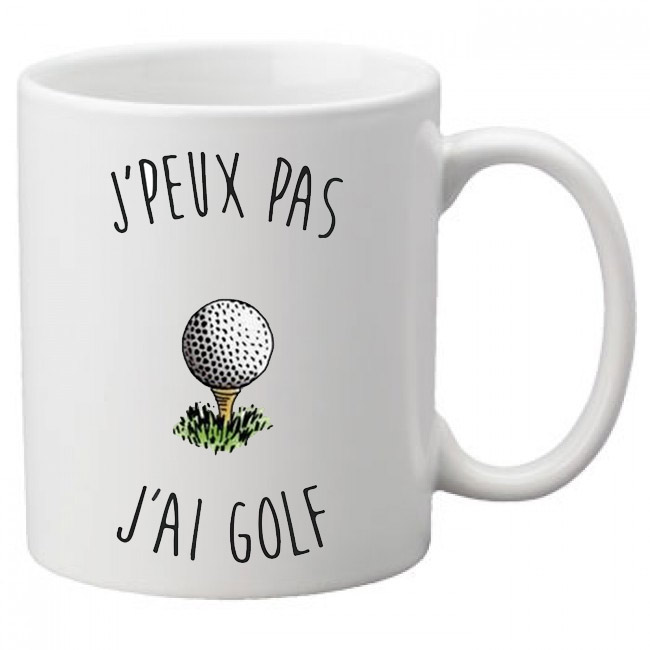 mug Je peux pas j'ai golf