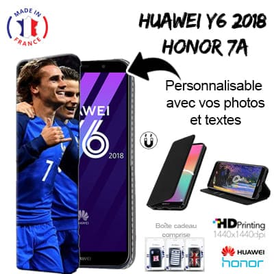 Housse portefeuille personnalisée Huawei Y6 2018 / Honor 7A
