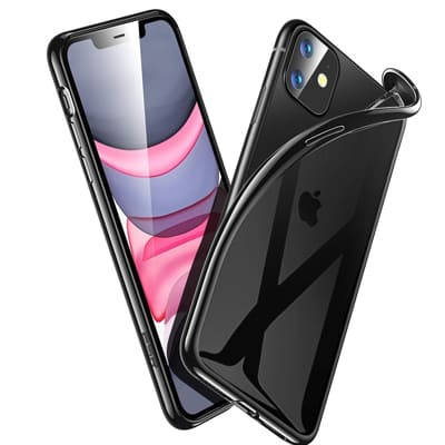 silicone iPhone 11 noir