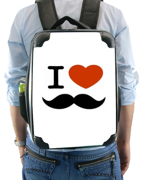 sac à dos I Love Moustache