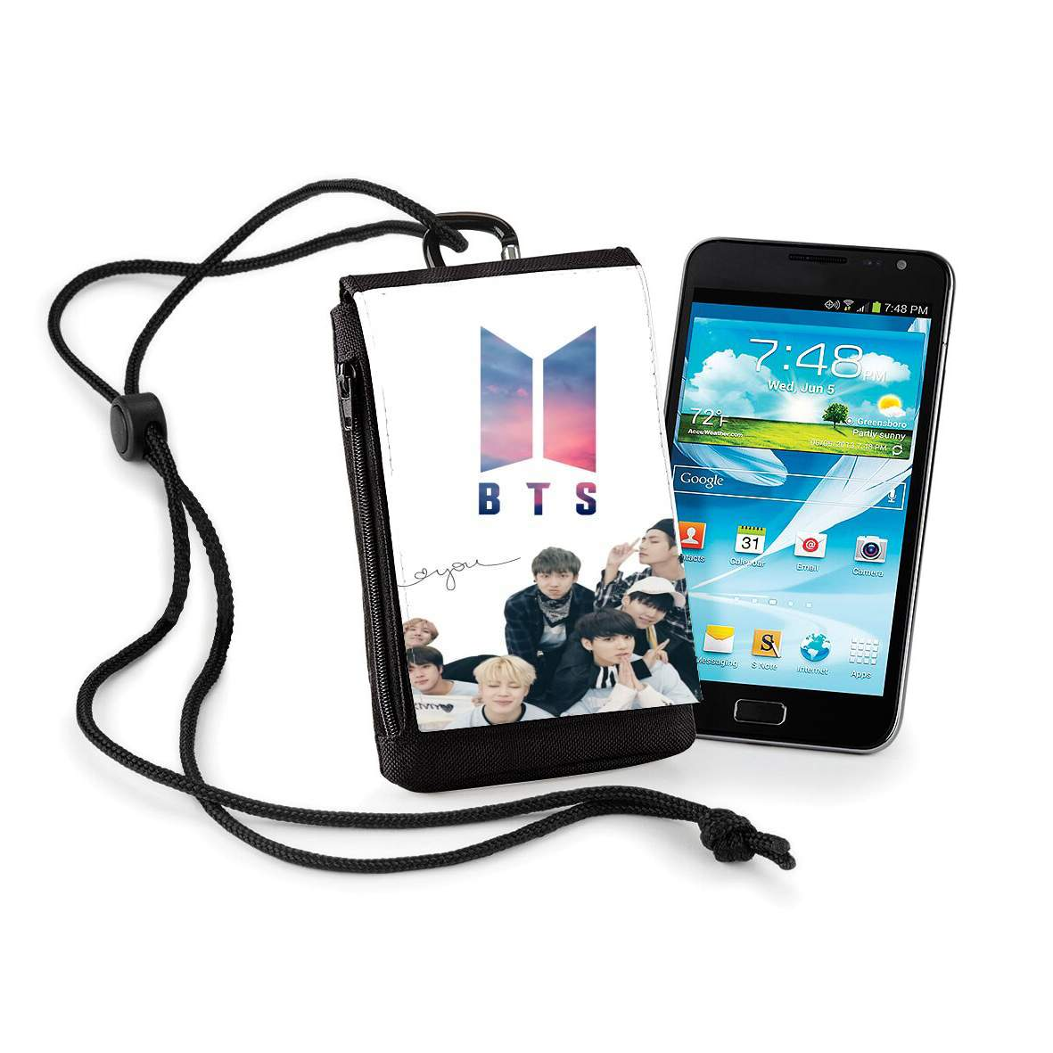 Pochette de téléphone business K-pop BTS Bangtan Boys