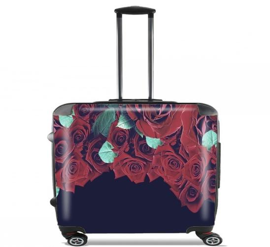 valise roses ordinateur roulettes bagage cabine personnalis e. Black Bedroom Furniture Sets. Home Design Ideas