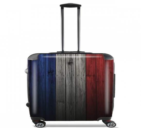 valise drapeau france sur bois ordinateur roulettes bagage cabine personnalis e. Black Bedroom Furniture Sets. Home Design Ideas