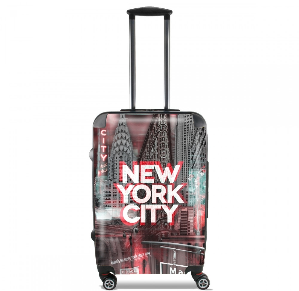 valise new york city ii red cabine trolley personnalis e