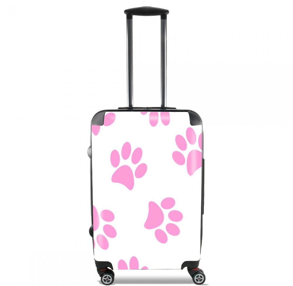 valise pas de chat chien rose cabine trolley personnalis e. Black Bedroom Furniture Sets. Home Design Ideas