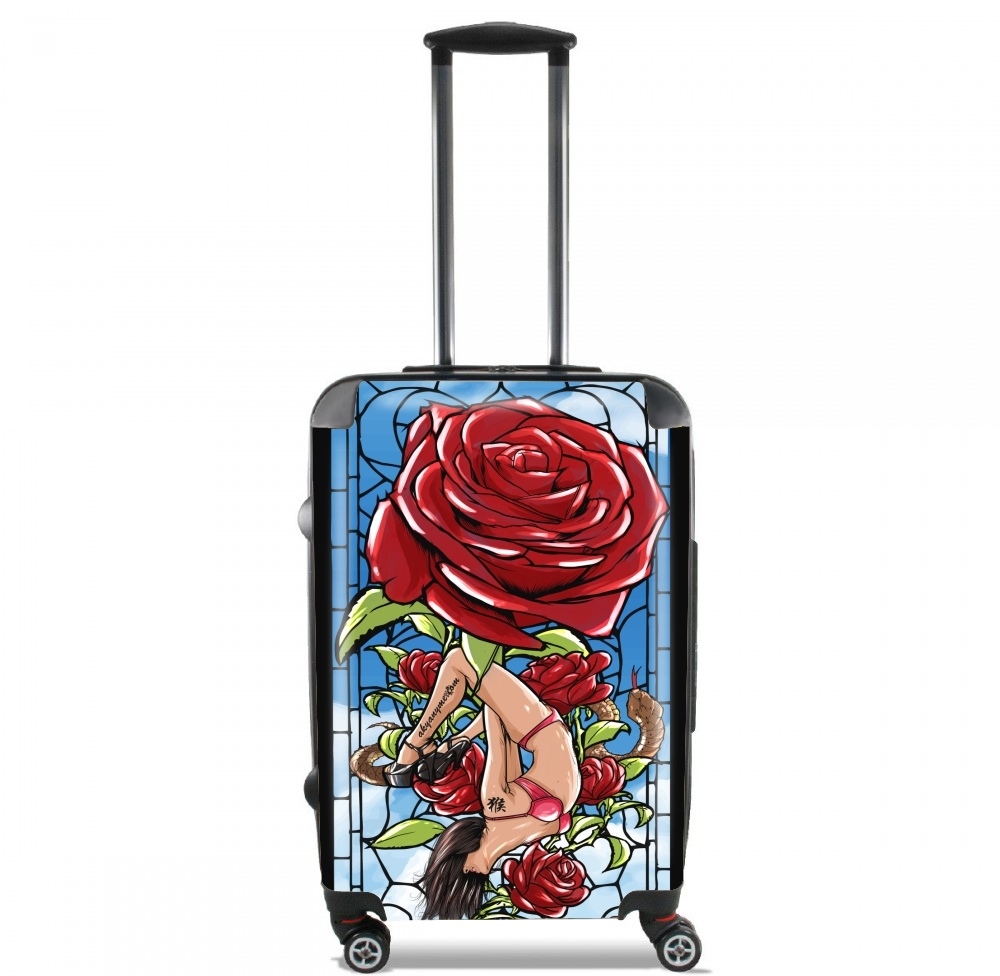 valise red roses cabine trolley personnalis e. Black Bedroom Furniture Sets. Home Design Ideas